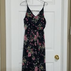 Sienna Sky Floral Wrap Front Maxi Dress